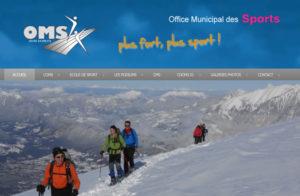 Réalisation site web Omsport Bourg en Bresse