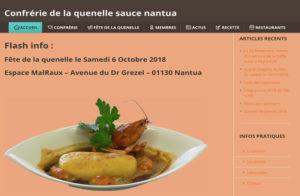Réalisation site web QUENELLES SAUCE NANTUA