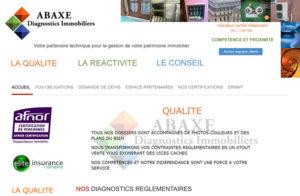 Réalisation site web Abaxe Diagnostics Immobiliers