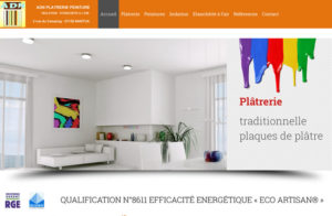 Réalisation site web ADN Platrerie Peinture à Nantua