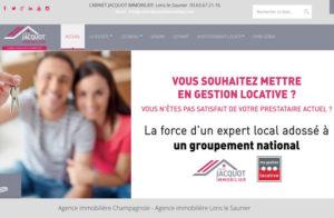 Réalisation site web cabinet-jacquot-immobilier à Lons le Saunier