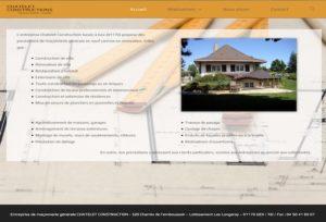 Réalisation site web chatelet constructions à Gex