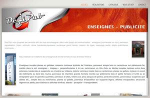 Réalisation site web dejipub à Montréal La Cluse