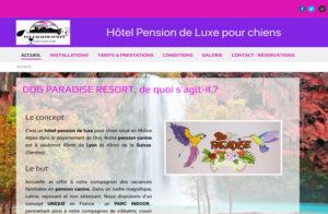 Réalisation site web Dog Paradise Resort à Labalme sur Cerdon