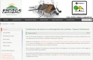 Réalisation site web Espace Chaimbault à Beard-Geovreissiat