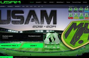 Réalisation site web foot-usam