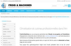 Réalisation site web froid-et-machines à Montréal La Cluse