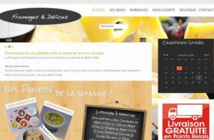 Réalisation site web fromages&delices à Lyon