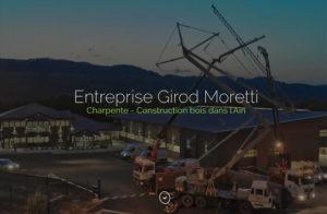 Réalisation site web Girod Moretti à Beard-Géovreissiat