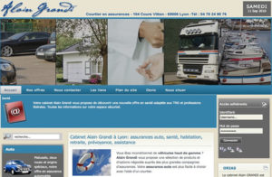 Réalisation site web grandi alain à Lyon