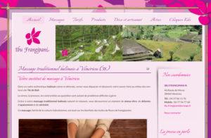 Réalisation site web Ibu Frangipani à Vénérieu