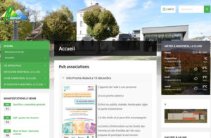 Réalisation site web Montreal-la-cluse dans l'Ain