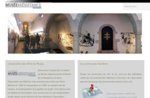 Réalisation site web Musee resistance Ain Jura à Nantua