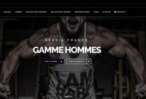 Réalisation site E-commerce Nebbia Fitness