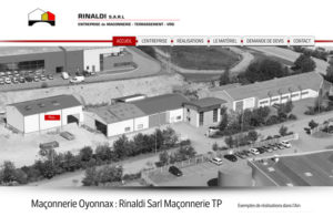 Réalisation site web entreprise Rinaldi à Veyziat