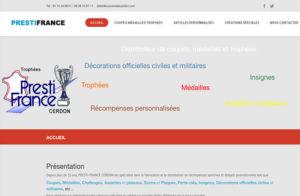 Réalisation site web Trophees Prestifrance à Cerdon